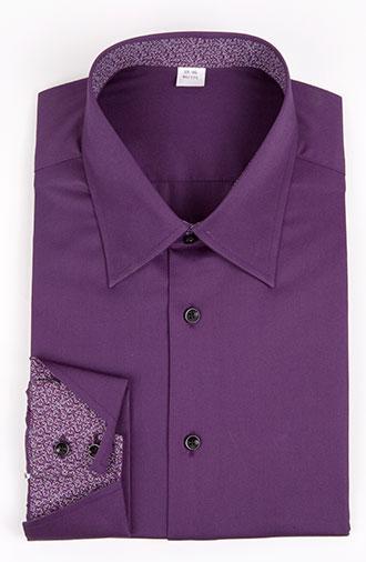 全新《经典·紫色》衬衫大八字领系列