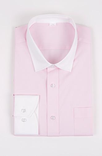 全新《时尚·浅粉》衬衫小外八字领系列