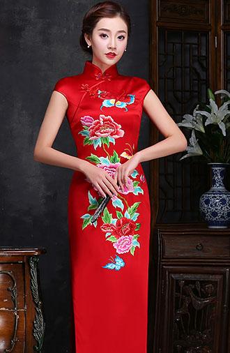 全新《时尚·酒红》旗袍系列