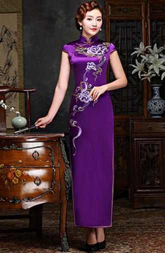 全新《时尚·紫色》旗袍系列